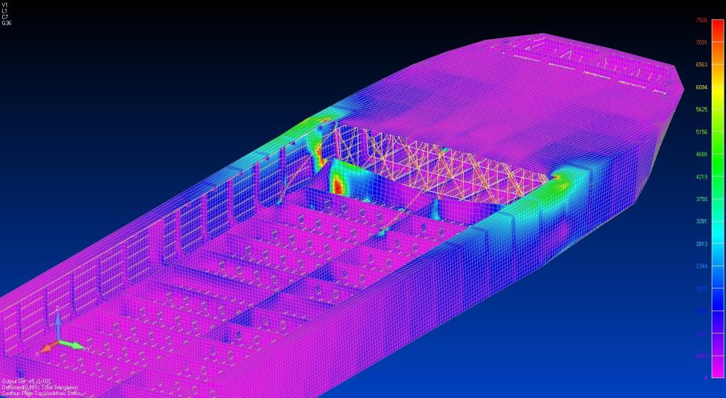 NX Nastran FEMAP Engineering Analyis Tool from Charleston Marine Consulting