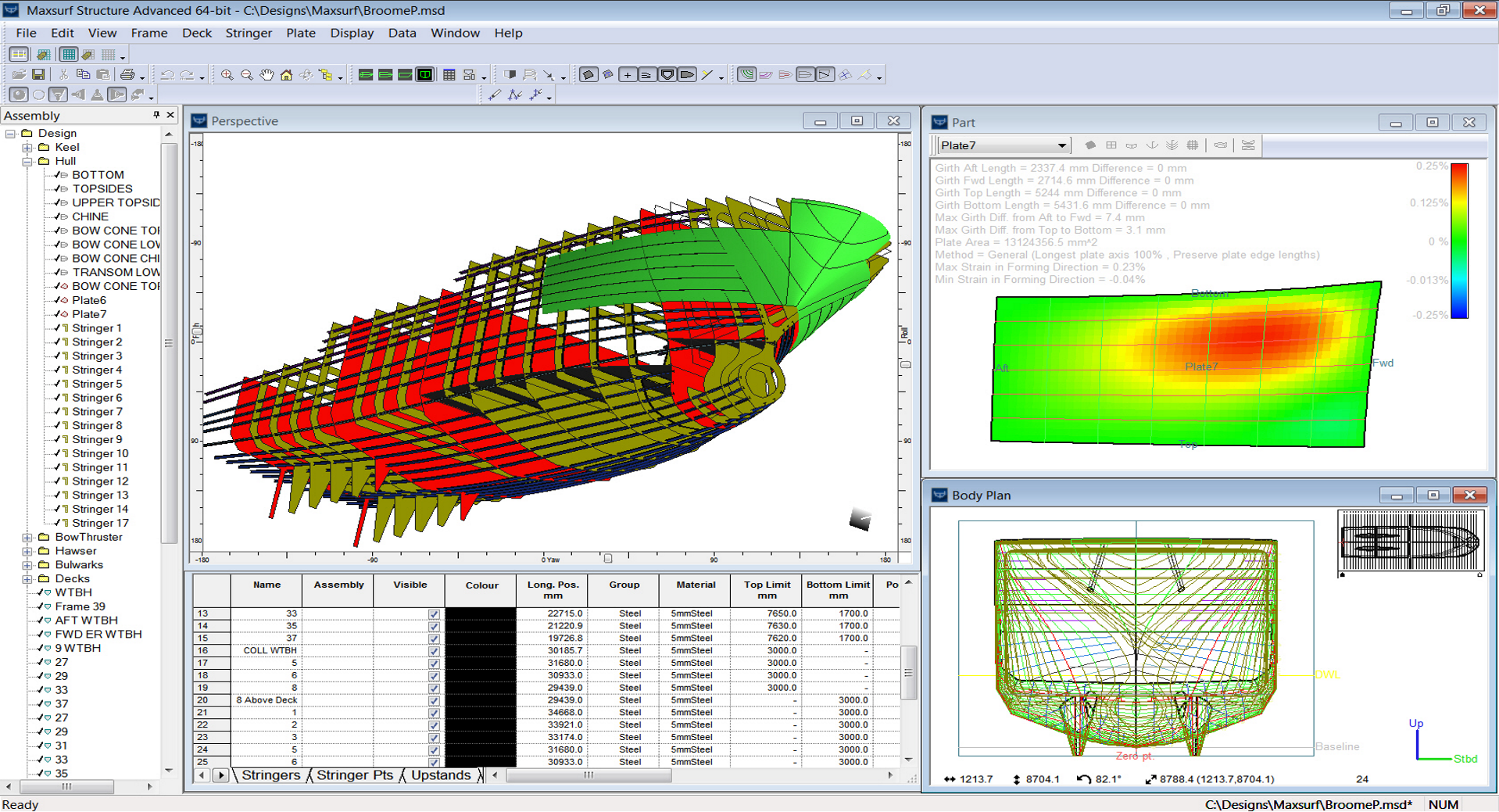 Maxsurf Ideal for Hull Structure Definition
